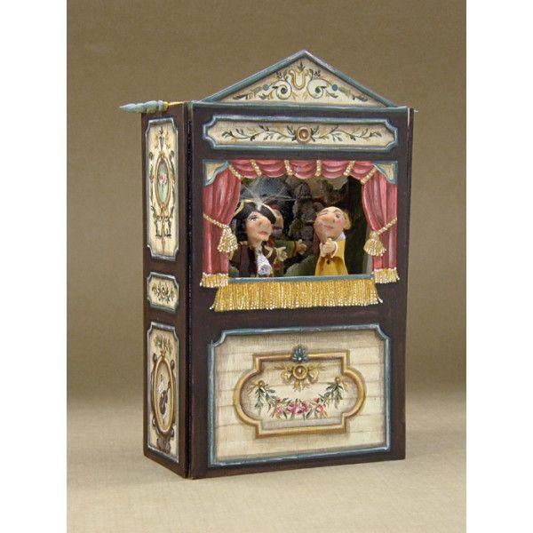 Gran teatro de gui ol marr n artesanos felipe royo miniaturas para casas de mu ecas - Casa de munecas teatro ...