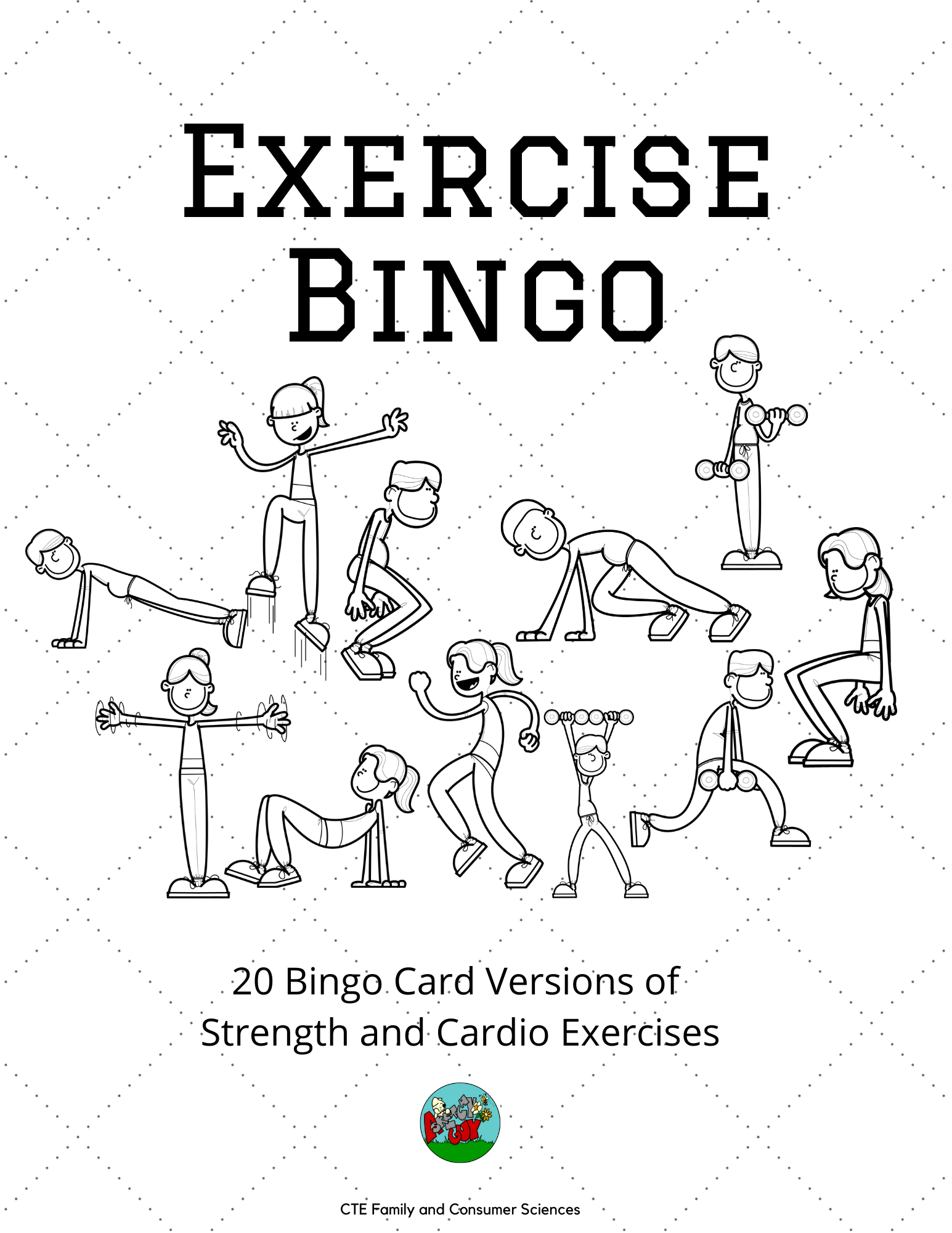 Exercise Bingo (Physical Education, Fitness, Health and