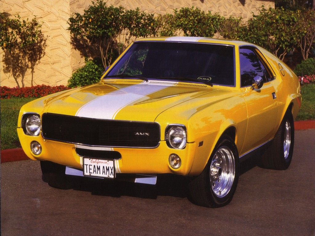 Awesome Yellow Amx Circa 1969 Classic Cars Muscle Amc Classic Cars