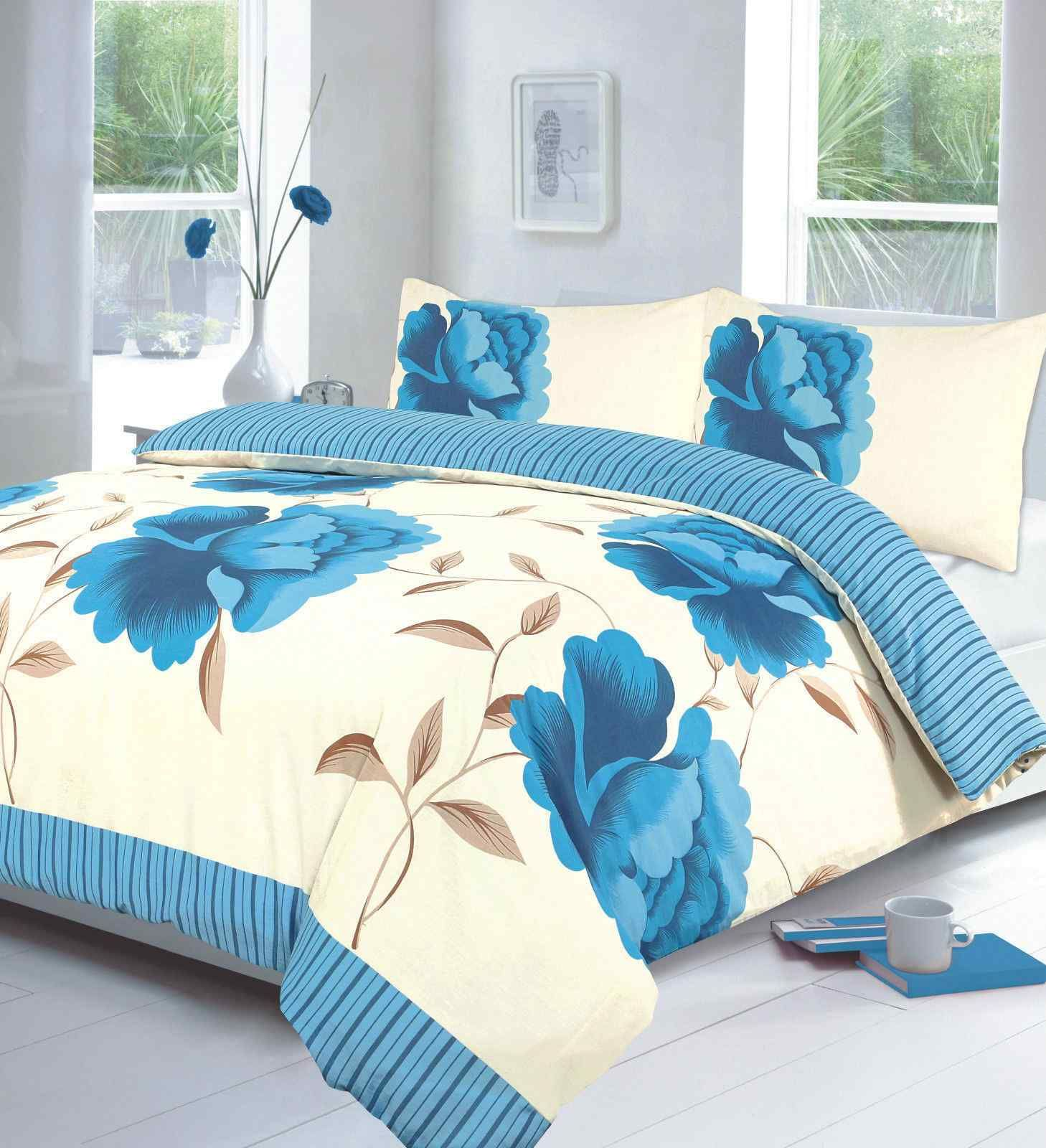Rosaleen Floral Duvet Cover with Pillow Case Quilt Cover Bedding Set All Size