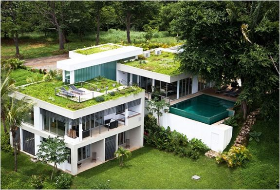 Tierra Villa For Rent Costa Rica Green Roof Eco Friendly House Contemporary House