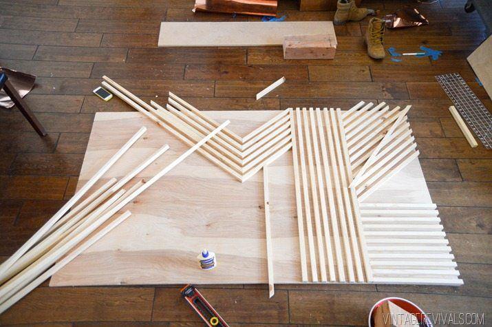 Photo of DIY Square Dowel Art