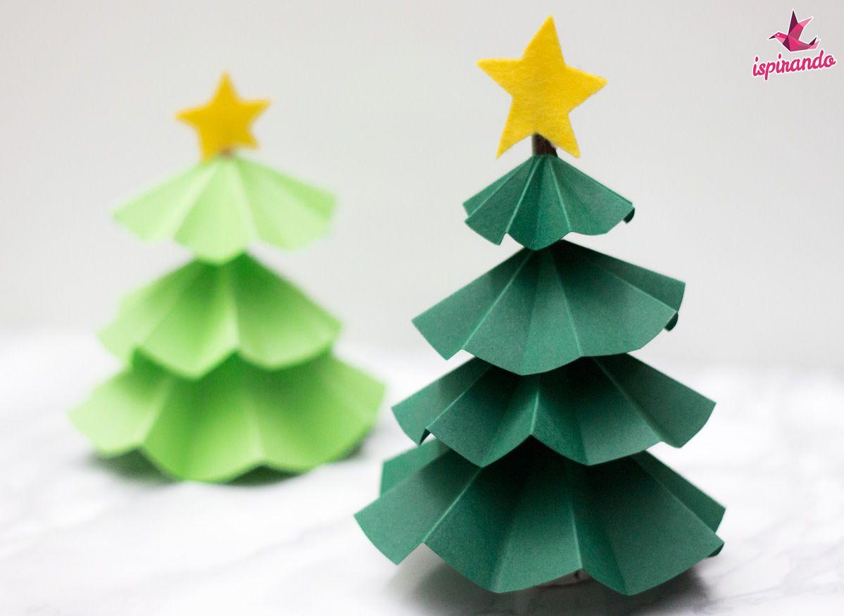 Graziosi alberi di Natale origami realizzati con ... - photo#34