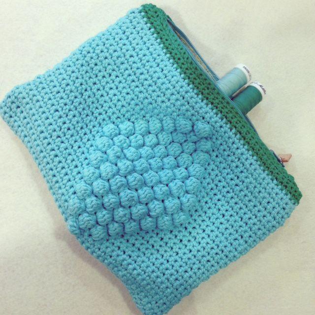 Gehaakte Noppen Etui Draad En Praat Pinterest Crochet