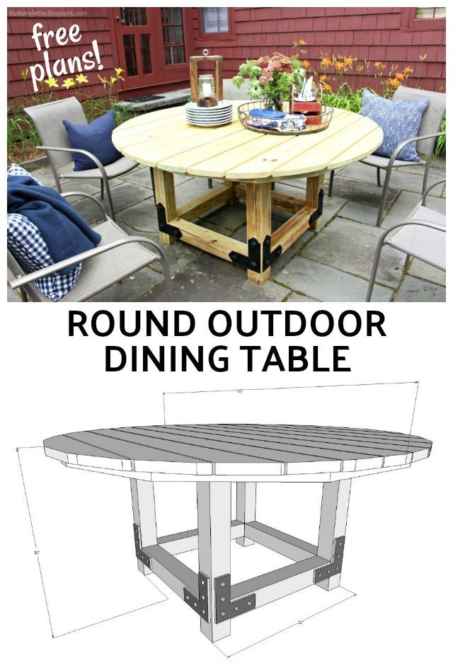 Diy Round Outdoor Dining Table With Outdoor Accents That S My