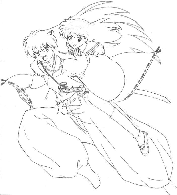 Free Printable Inuyasha Coloring Pages For Kids | 786x714
