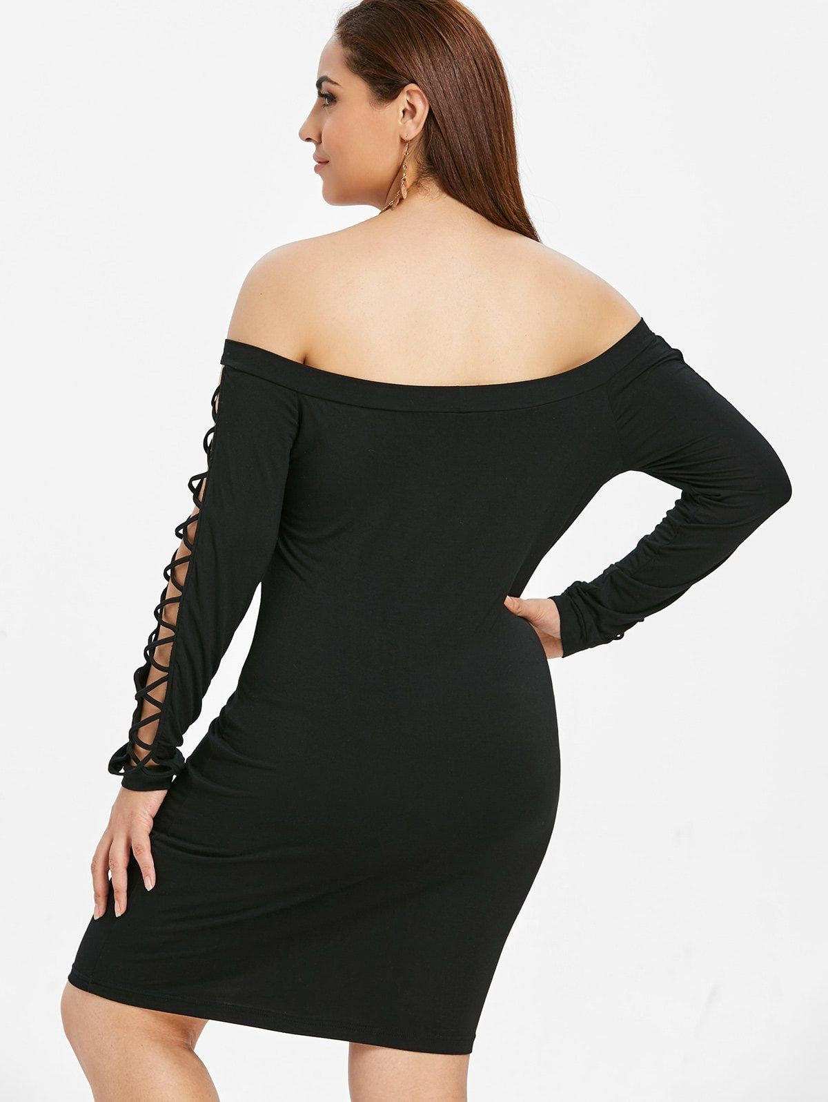 Plus Size Off The Shoulder Criss Cross Bodycon Dress Ad Affiliate Criss Shoulder Size Dress Bodycon Dresses Bodycon Dress Bodycon Mini Dress