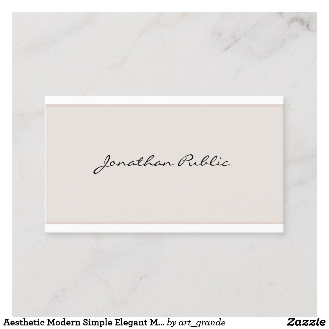 Aesthetic Modern Simple Elegant Minimalistic Plain Business Card Zazzle Com Visiting Cards Printing Double Sided Simple