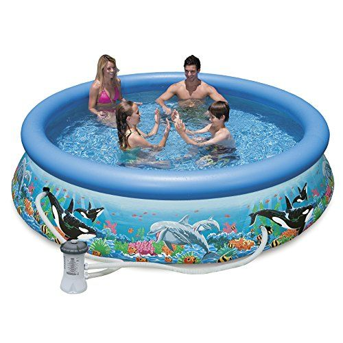 Just Arrived Intex 10ft X 30in Ocean Reef Easy Set Pool Set With Filter Pump Easy Set Pools Cool Swimming Pools Inflatable Swimming Pool