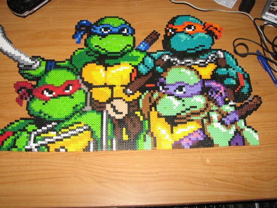 tmnt perler by ndbigdi.deviantart.com on @deviantART | ninja turtles ...