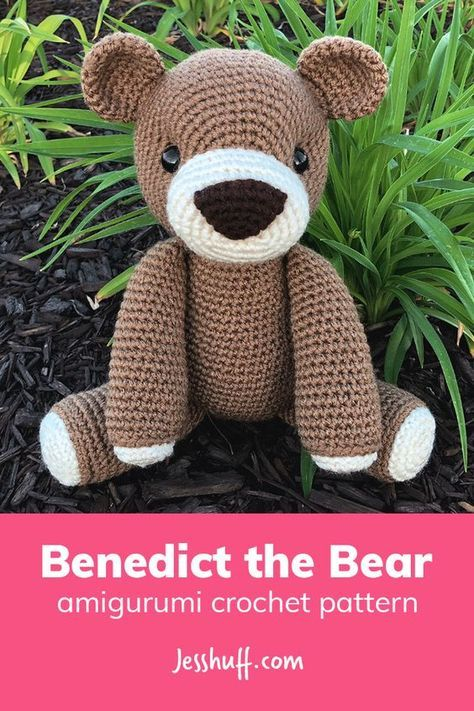 Benedict the Bear #crochetbear