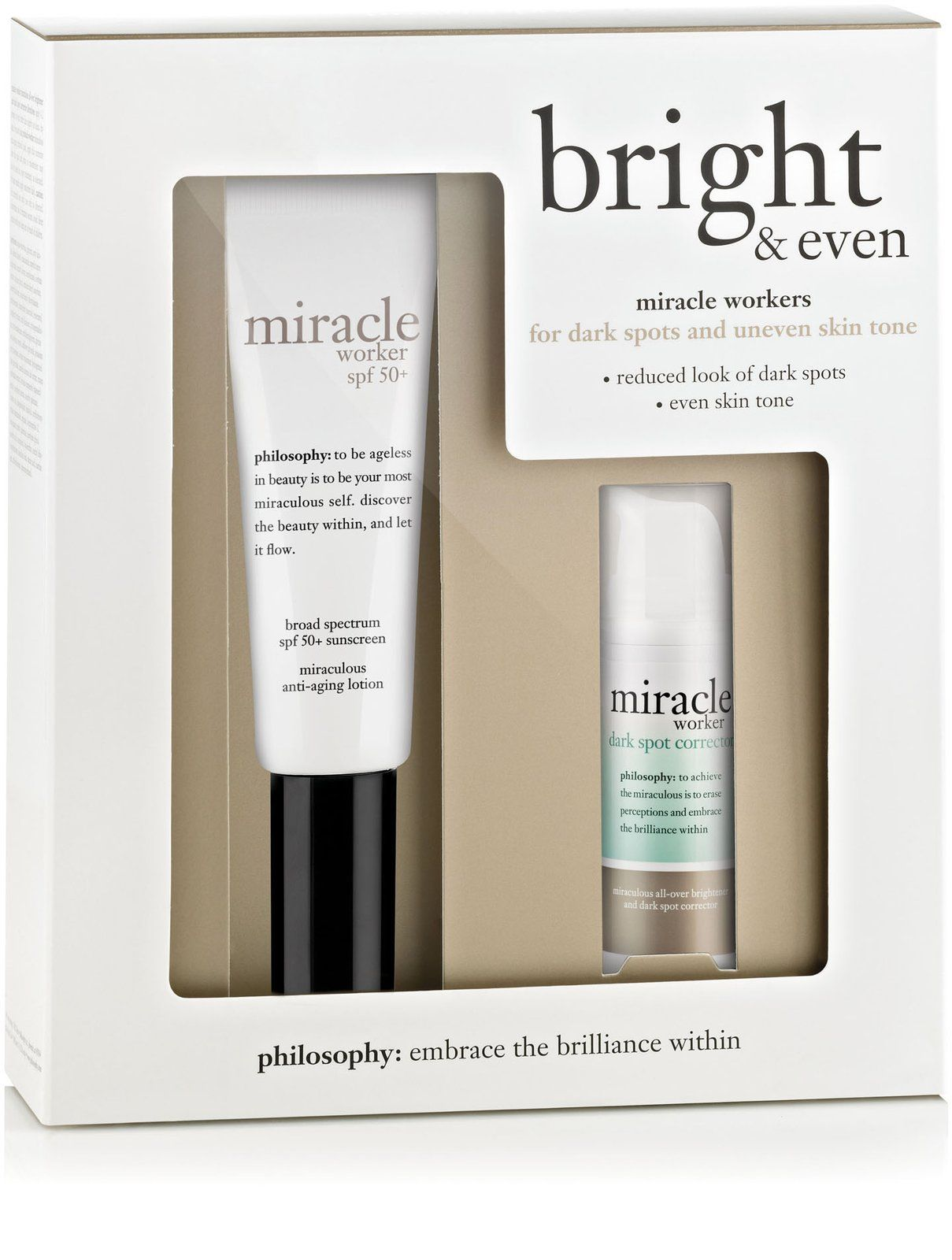 Seeing spots bright u even features philosophyus miracle workers