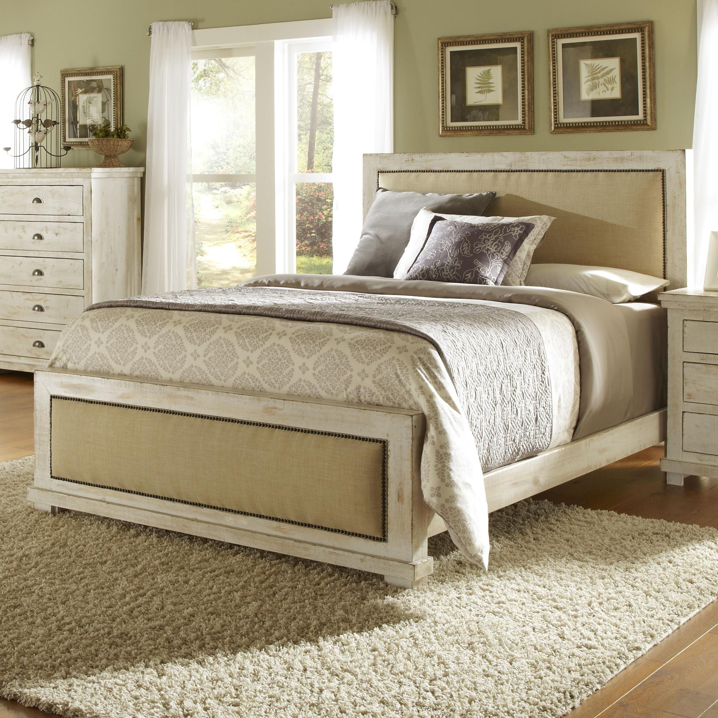 Willow Collection Bedroom Furniture Queen upholstered bed