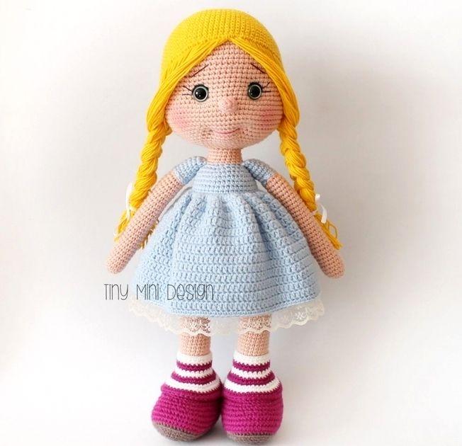 Мастер-классы для вязания амигуруми-куклы 92