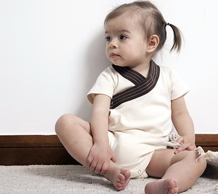 As part of the Spring/Summer 2012 collection, Wobabybasics has designed a cute natural color Kimono bodysuit for your baby. Dress up your baby in stylish and super cute fashion! Wobabybasics uses only 100% certified chemical-free organic textiles and safe, low-impact dyes.