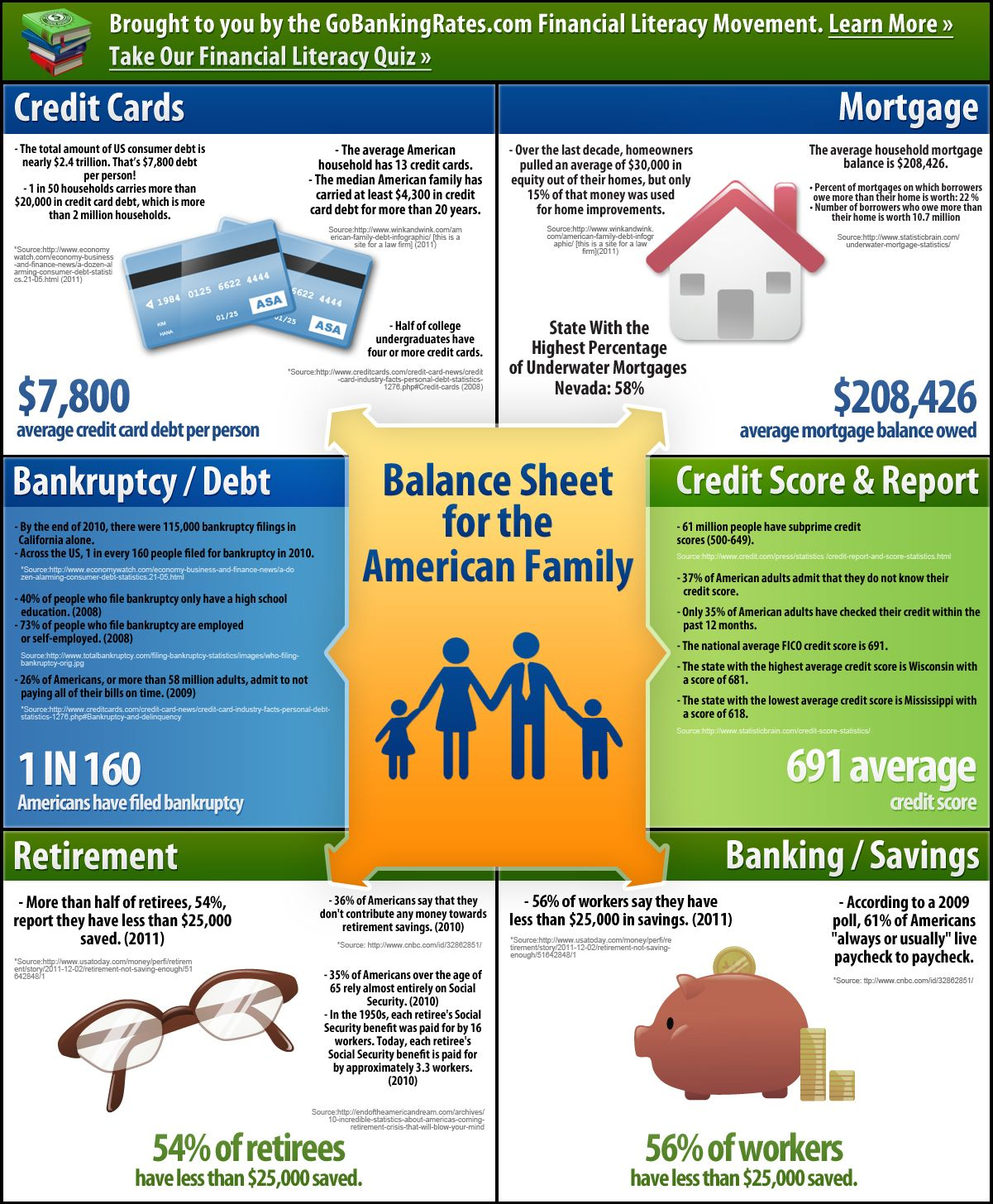 Financial Literacy And The American Household Infographic