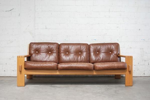 Vintage Bonanza Cognac Brown Leather Sofa By Esko Pajamies For Asko 1 Brown Leather Sofa Leather Sofa Sofa Sale