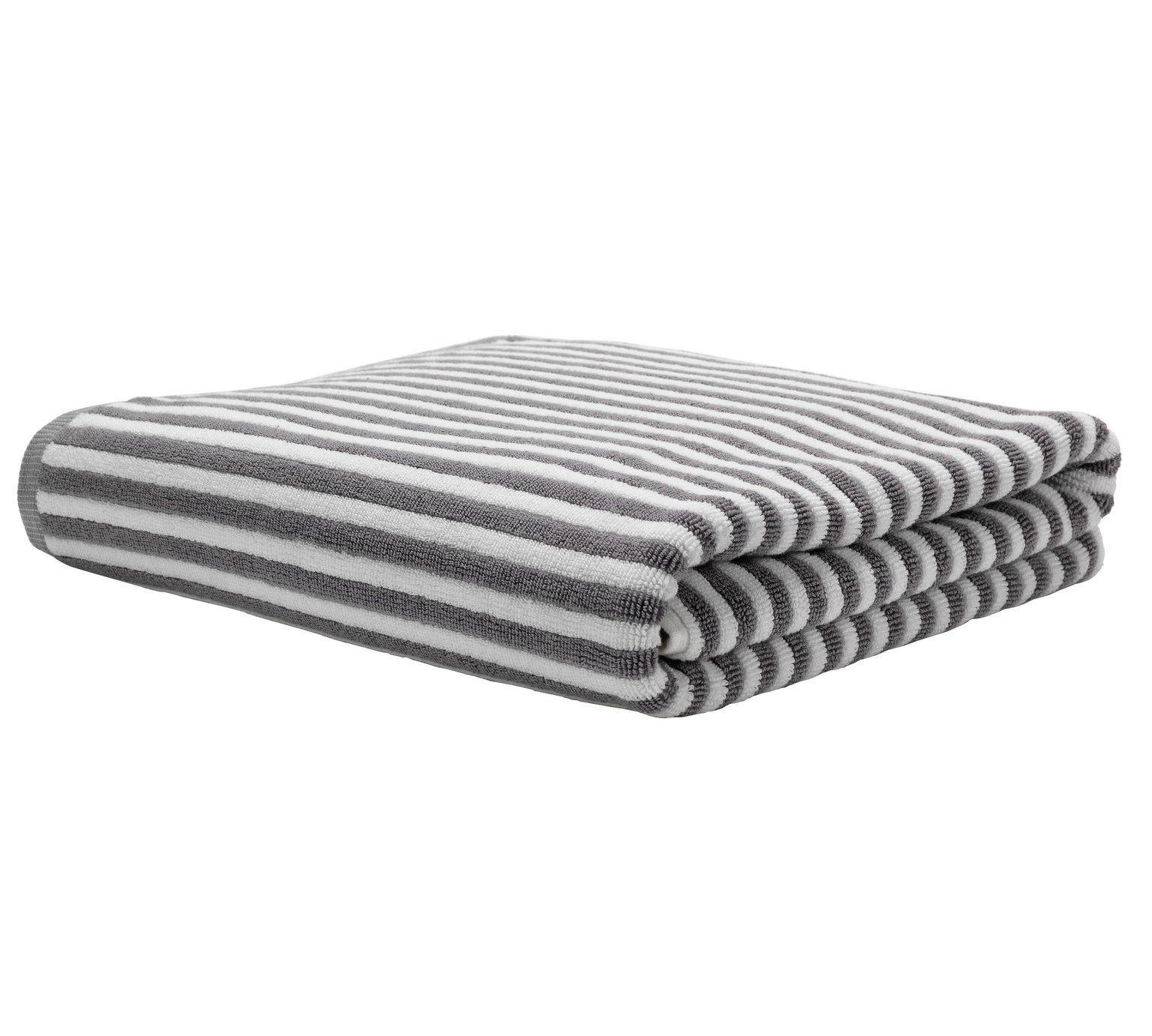 Buy Sainsbury\'s Home Glacier Fine Stripe Bath Sheet at Argos.co.uk ...