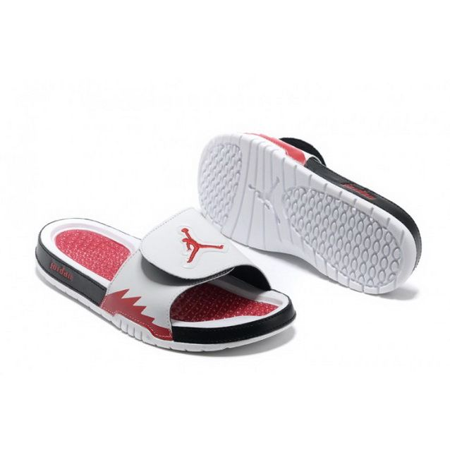 Nike Air Jordan Hydro 5 Slippers Mens Shoes White Black Red