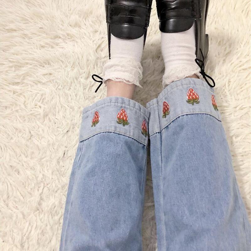 Cute strawberry jeans yc21066