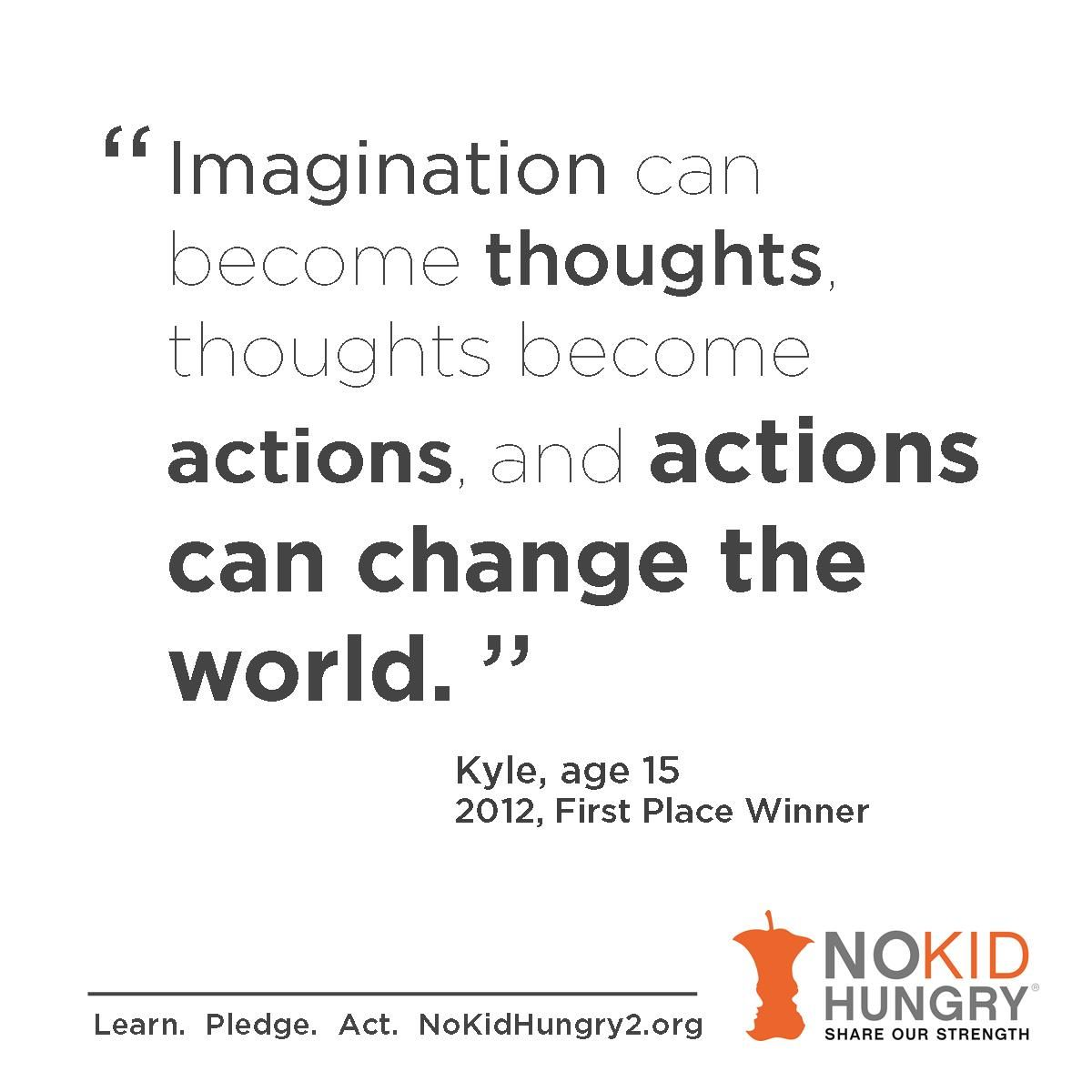 Your Students Words Can Help Change The World Enter The No Kid Hungry Essay Contest