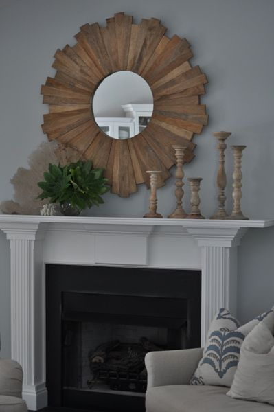Attractive Bungalow Blue Interiors   Home   My Simple Summer Mantle