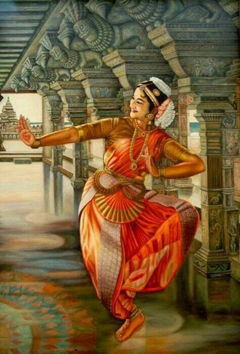 bharatnatyam dancer painting | dance | Pinterest | Dancers ...