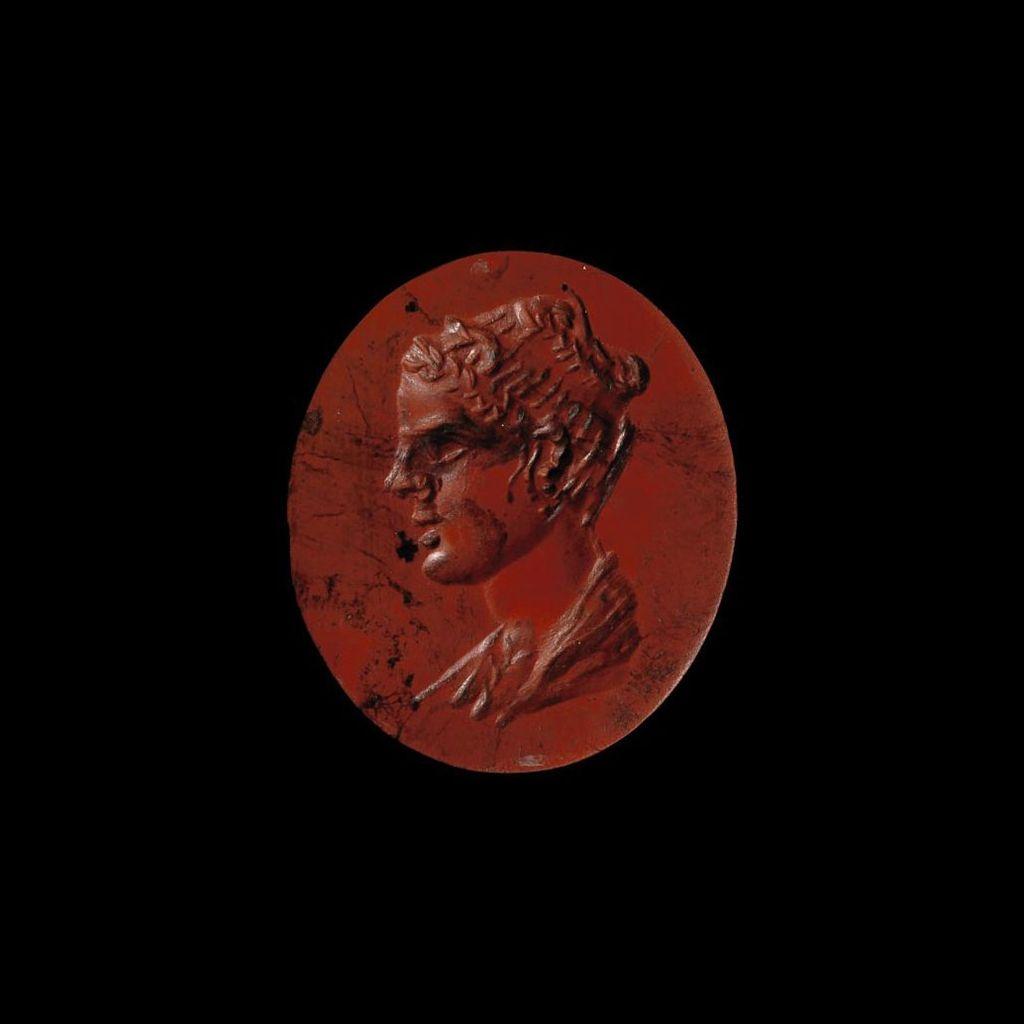 A Roman Jasper Intaglio With Female Bust Circa 1st Century A D Taki