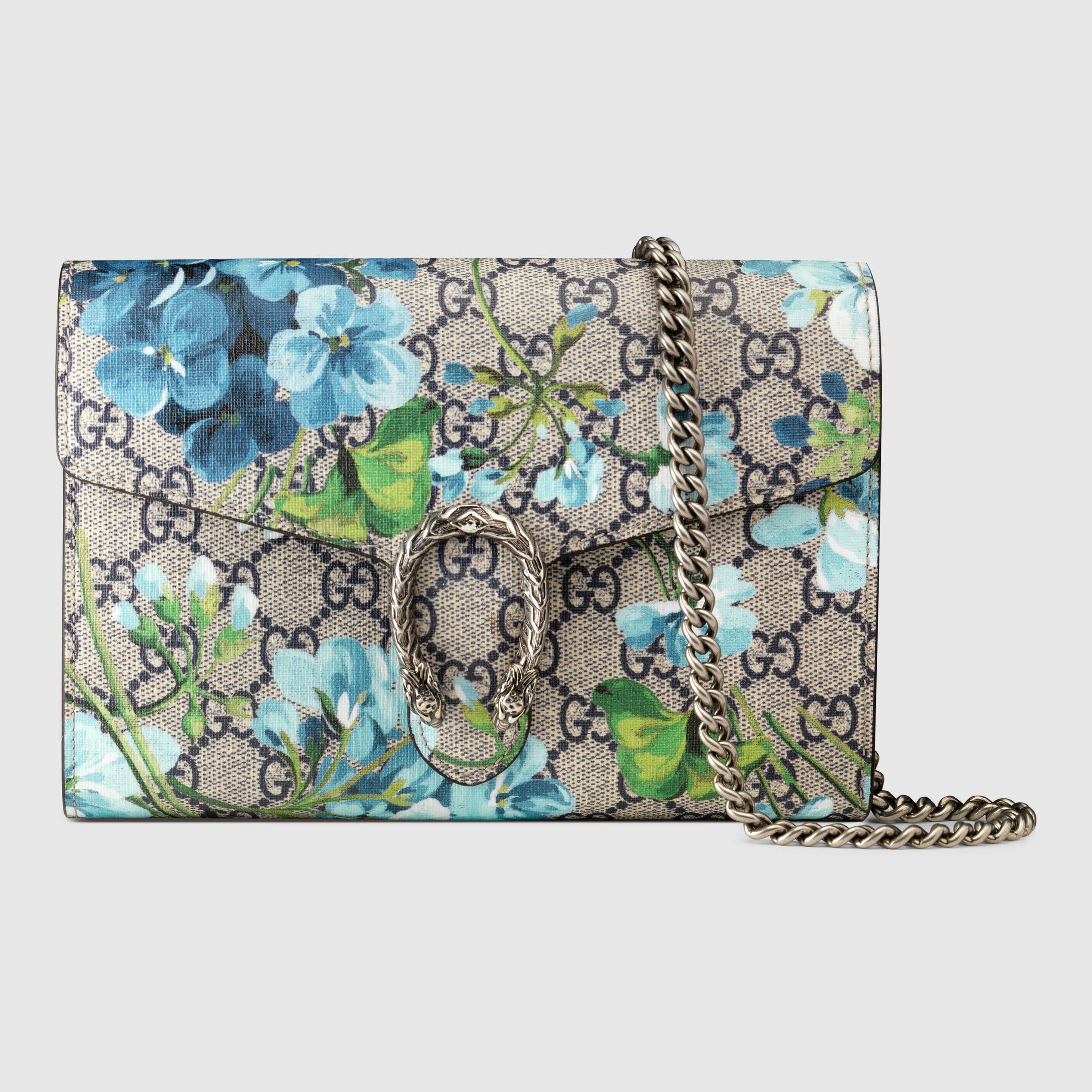 Gucci Women - Dionysus Blooms print mini chain bag - 401231KU2AN8487 ... b2715c0d7f4cd