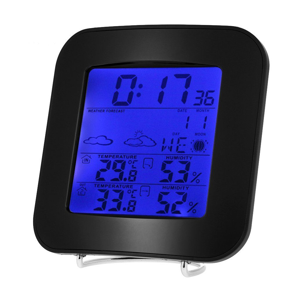 Decdeal Multi-functional Wireless Weather Station Clock Digital LCD Indoor  Outdoor Thermometer Temperature Alarm Hygrometer Calendar Function     Be  sure to ... 32ac238ddc1e3