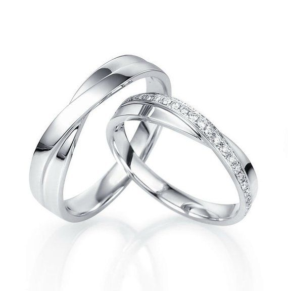 Average Cost Of Wedding Gift: 14k White Gold Wedding Bands. Gold Wedding Bands. Unique