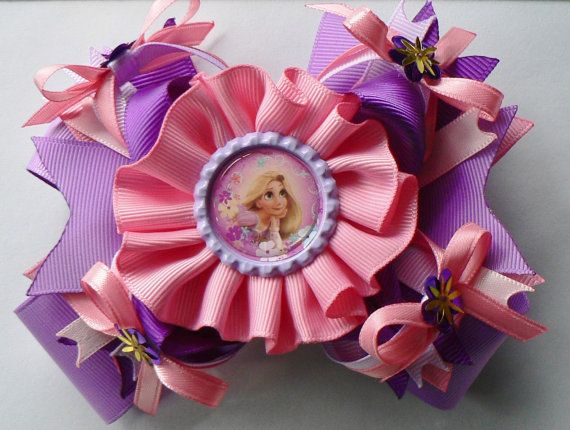 Rapunzel Hair Bow by SweetandCuteBows on Etsy 1200 Fashion