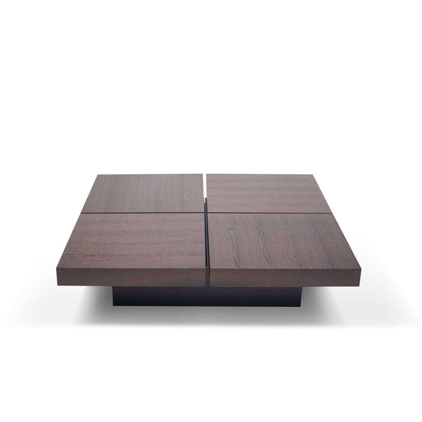 - A Four-squared Coffee Table With Low Profile And Optional Storage