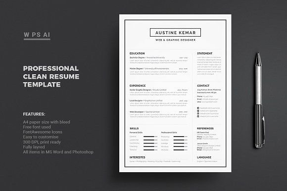 Resume/CV by Diverter on @creativemarket Resume / CV Pinterest - Resume/cv Template