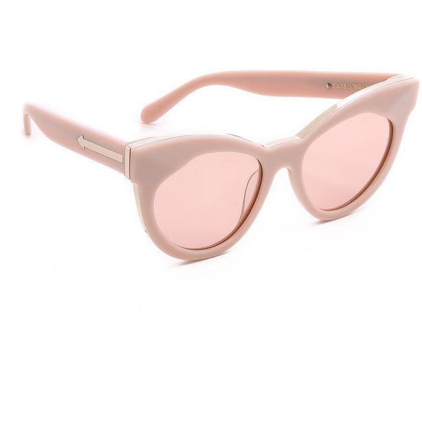 b4f2b17f913d Karen Walker Starburst Sunglasses - Dusty Pink/Pink Mono featuring polyvore,  fashion, accessories, eyewear, sunglasses, polarized sunglasses, pink cat  eye ...