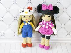 Amigurumi Doraemon Free Pattern : Crochet doll in minnie mouse costume free pattern by amigurumi