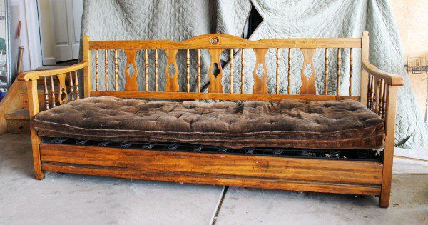 Antique Wooden Daybed Victorian