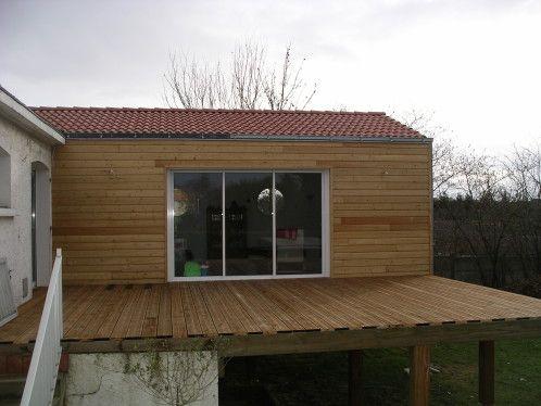 Extension en Bois de 30 m2 en cours de montage en Vendée maisons et