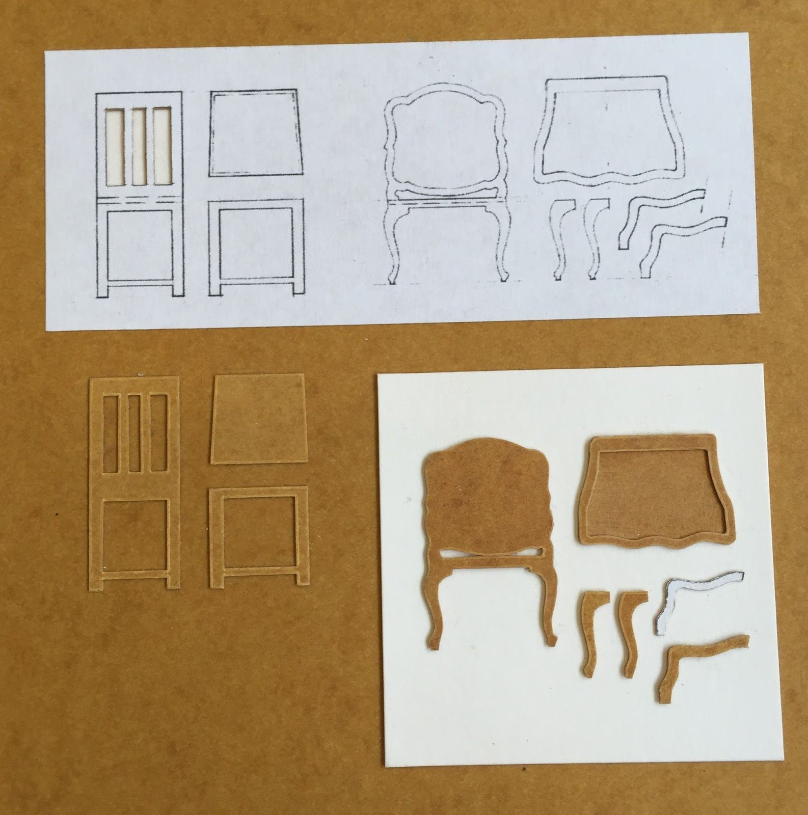 Dolls furniture Pack. Vector models for CNC router and laser cutting. 1:6 scale. Doll house kit. Plywood toy. Toys for girls. DXF, CDR #dollfurniture
