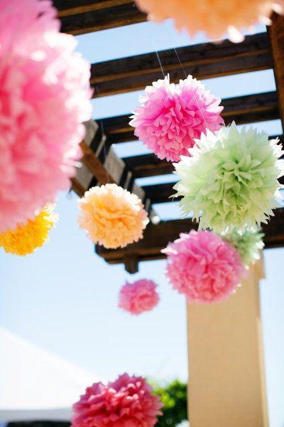 Kolorowe Kwiaty Z Papieru Tissue Paper Pom Poms Diy Paper Pom Poms Tissue Paper Pom Poms