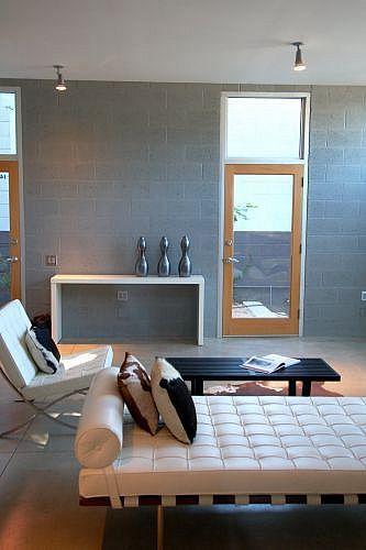 Staged modern interior