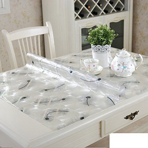 Pvc Table Cloth Transparent Soft Glass Crystal Plate Rectangle Waterproof Burn Proof Plastic Table Mats Free W Plastic Tables Dining Room Table Table Mats