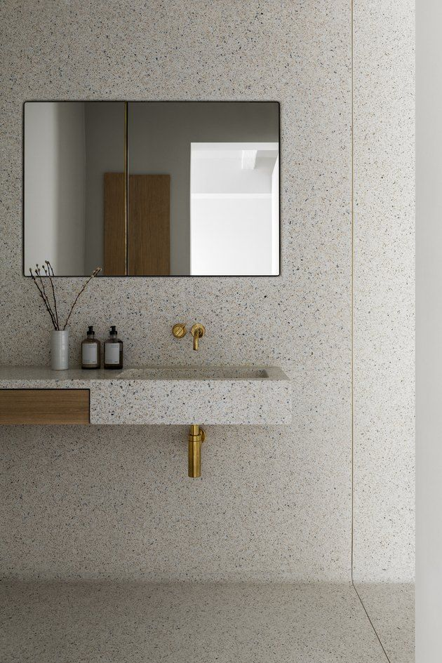 Photo of Terrazzo walls counters and floors