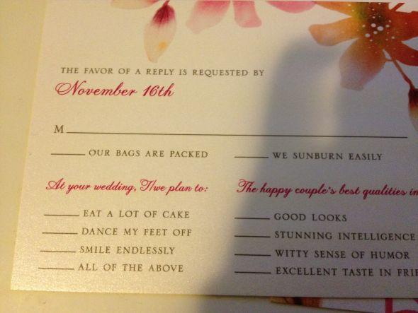 Pin by Bridget Bailey on Weddings   Pinterest   Rsvp, Rsvp wording ...