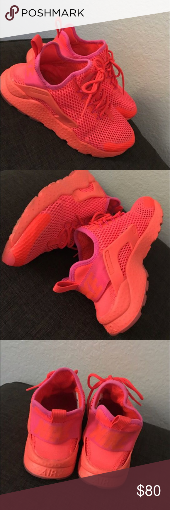 d03d2dadb894 Nike Huaraches Bright Pink Brand new only worn a few times Nike Shoes  Sneakers
