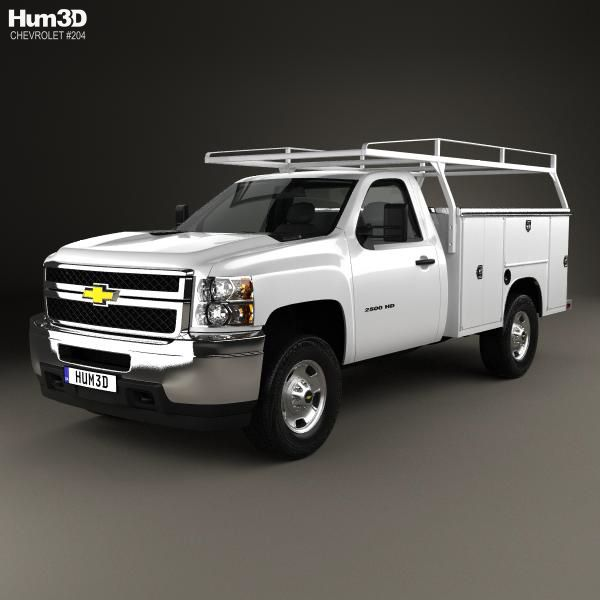3d Model Of Chevrolet Silverado 2500hd Work Truck 2011 Chevrolet Silverado Chevrolet Silverado 2500hd Work Truck