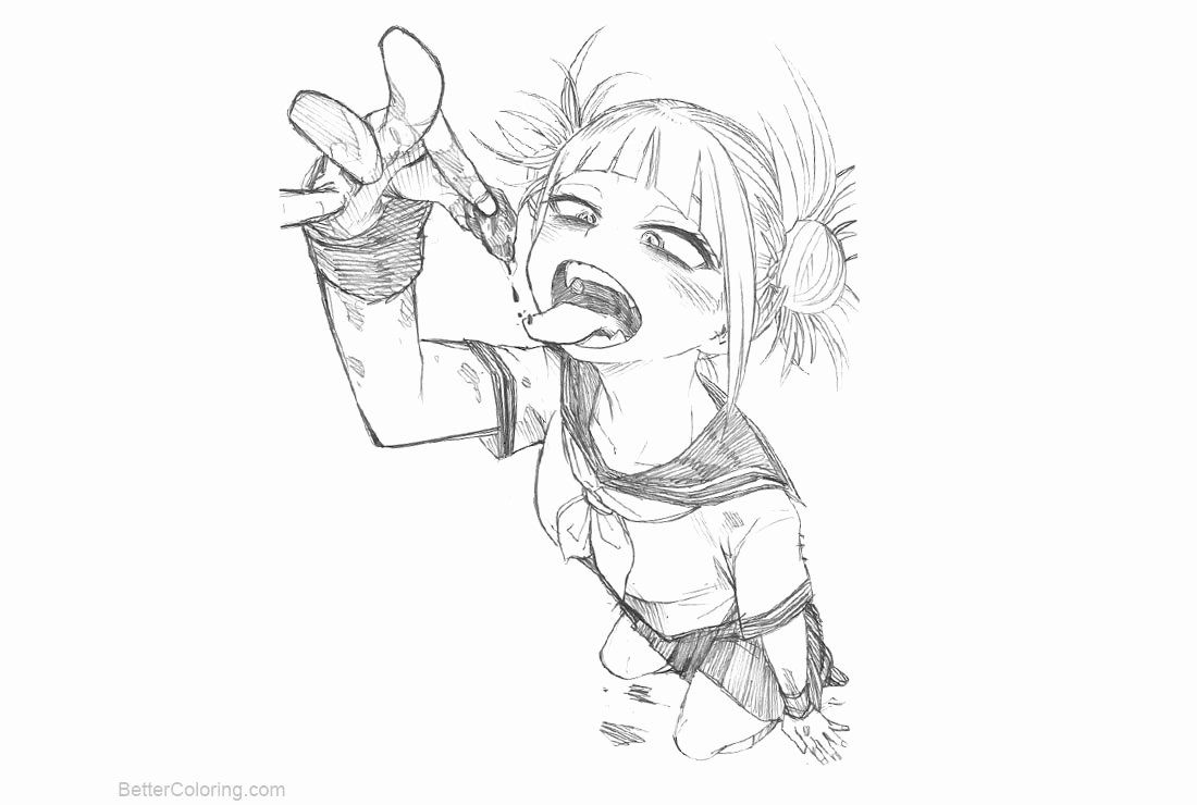 My Hero Academia Coloring Pages New Himiko toga From My