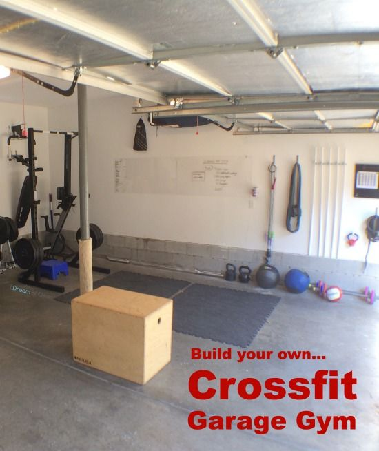 Crossfit garage gym on pinterest crossfit home gym for How to create a home gym