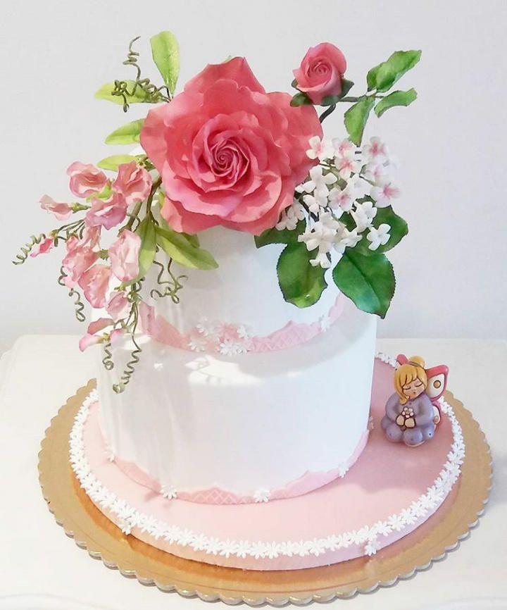 a girl's comunion - Cake by Chickadee Cakes - Sara