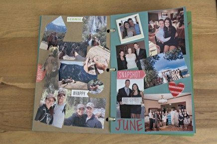 Diy one year anniversary scrapbook gift for boyfriend